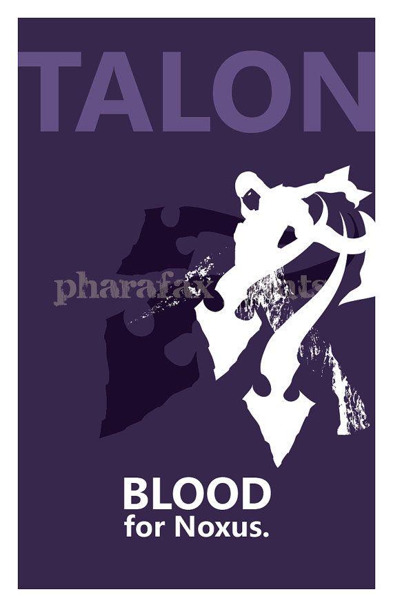 Talon League of Legends Print by pharafax on Etsy, $16.00
