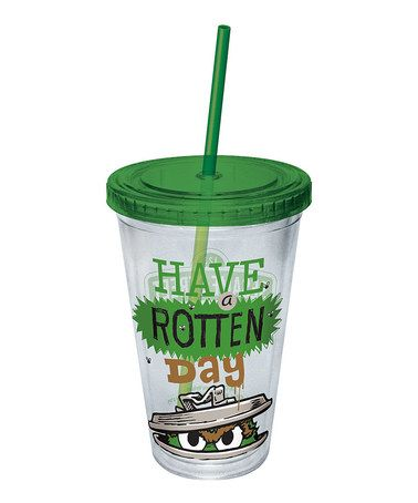Love this 'Have a Rotten Day' Oscar the Grouch 16-Oz. Tumbler on #zulily! #zulilyfinds