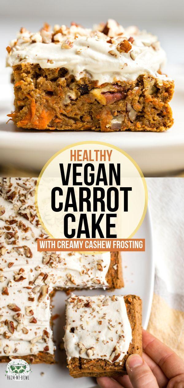 Gesunder Karottenkuchen   – Healthy Desserts