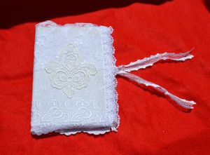 linkovaný zápisník s krajkovým obalem journal with lace cover