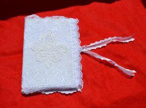 linkovaný zápisník s krajkovým obalem journal with lace cover