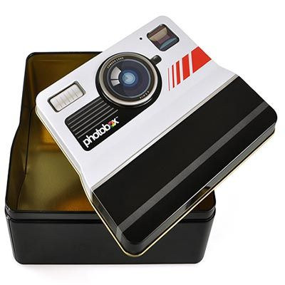 Photobox Retro Camera Shaped Tin - Now mom can store all her most precious photos in one safe box. The unique design makes this that much more of a special gift for Mother's Day.