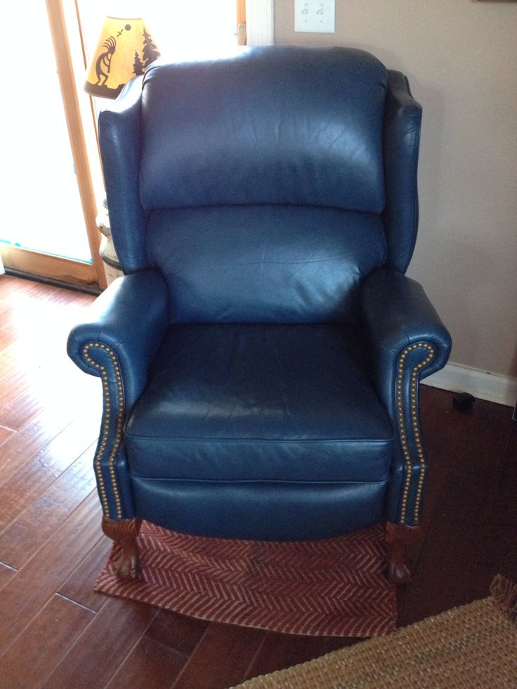 Blue Leather Recliner Furniture And Home Pinterest