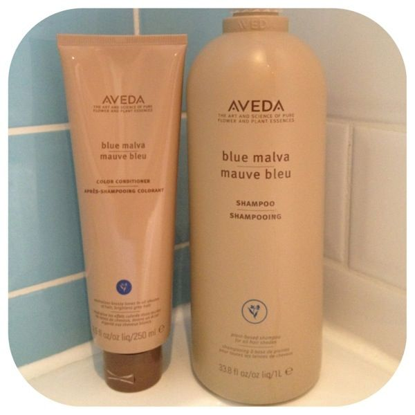 Aveda Blue Malva. Awesome for taking brass tones out of blonde hair.