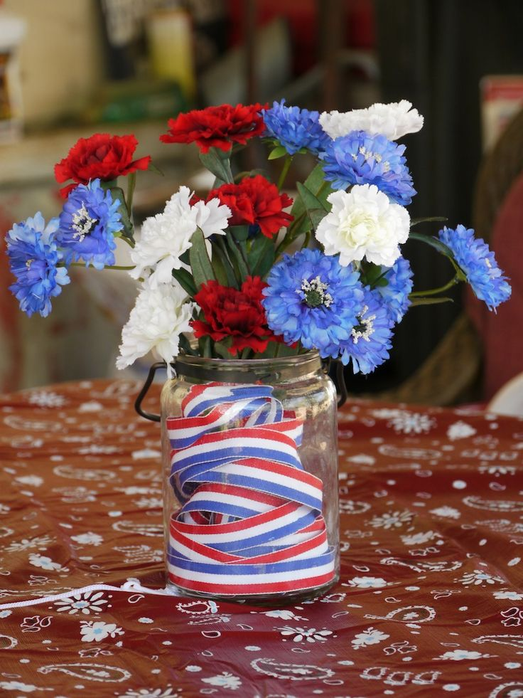 4th of july table centerpiece craft super easy and frugal