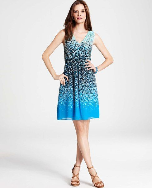 Ann Taylor - AT New Arrivals - Animal Ombre Print Sleeveless Dress