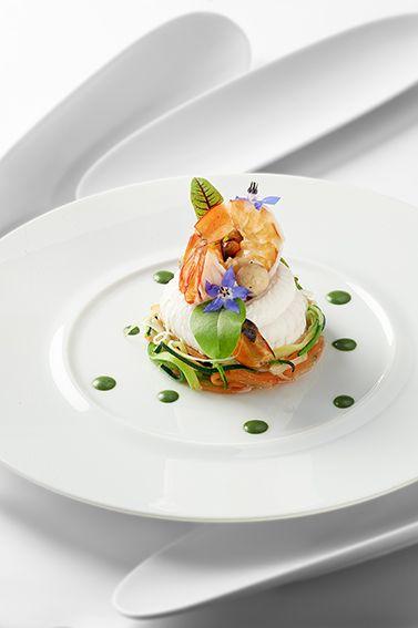Sole normande en filets, grosses crevettes, moules et champignons de Paris © Photos Thuriès Gastronomie Magazine, Pascal Lattes