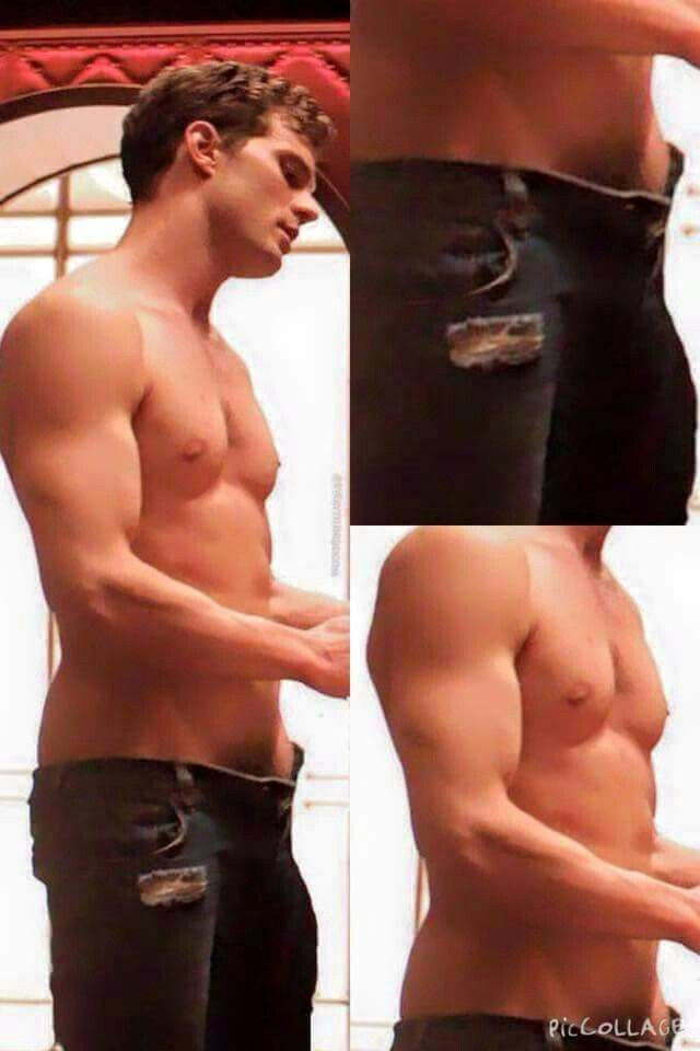 Christian...well, I mean I....that is.... ::fanning self:: #JamieDornan #toosexy