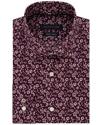 9a924dde Shop Tommy Hilfiger Men's Slim-Fit TH Flex Non-Iron Supima Stretch Floral Dress  Shirt online at Macys.com. Contrasting floral motifs on the deep ground of  ...