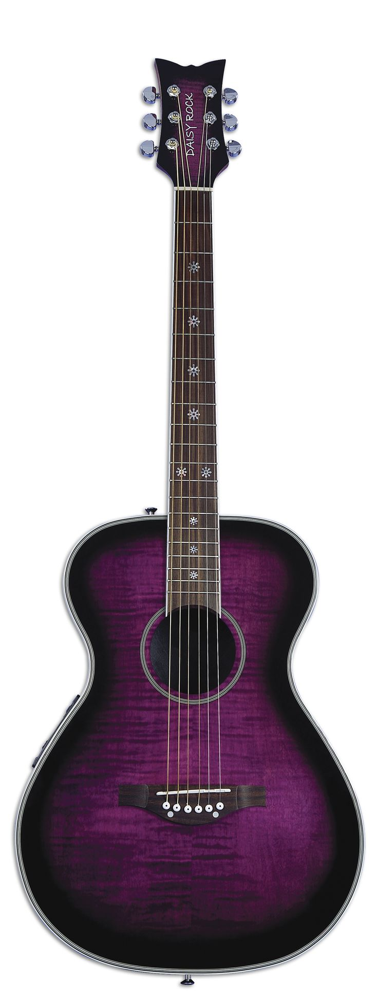Pixie Acoustic / Electric (Plum Purple Burst) | Daisy Rock Guitars the Girl Guitar Company - I can't play but I would find a place to display a purple guitar!