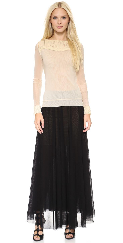 Jean Paul Gaultier Pleated Maxi Skirt   SHOPBOP