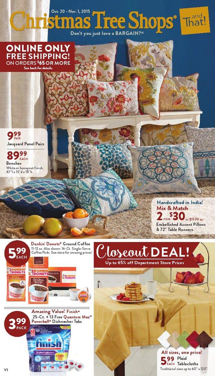 Christmas Tree Shops Ad October 20 - November 1, 2015 - http://www.olcatalog.com/home-garden/christmas-tree-shops-ad.html