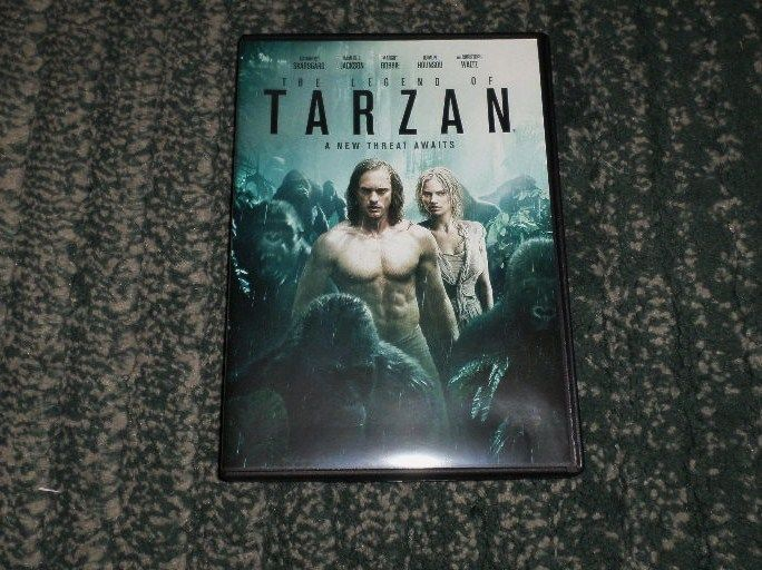 The Legend of Tarzan (DVD, 2016), SKARSGARD, MARGOT ROBBIE, WATCHED ONCE, VGUC #WarnerBros