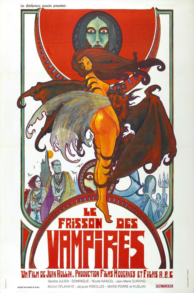 Shiver of the Vampires. Movie by Jean Rollins, poster by Druillet.
