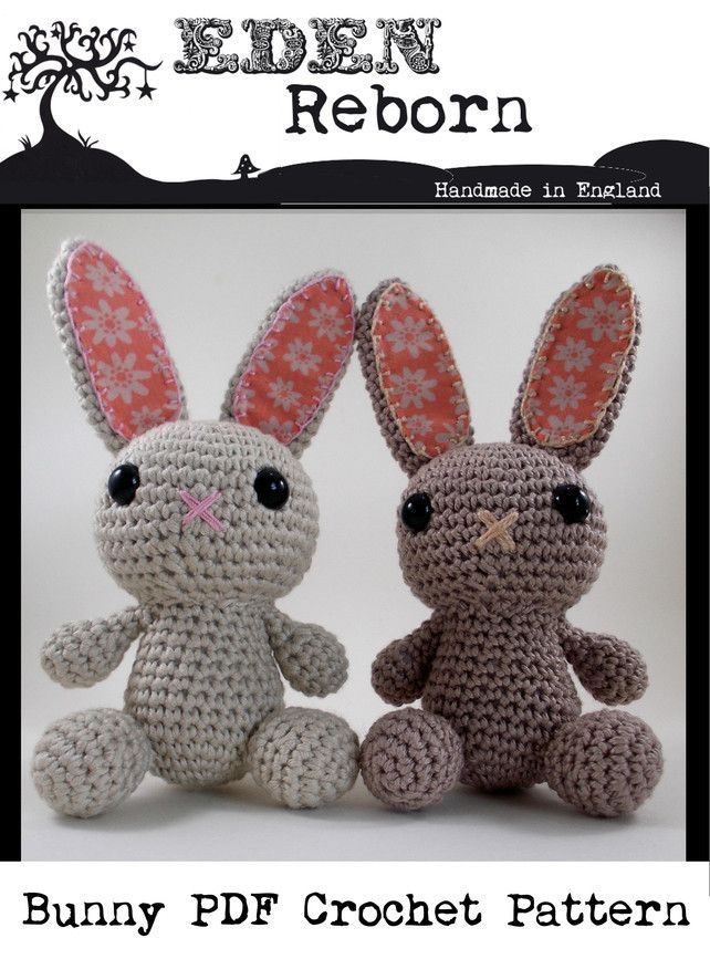 Eden Reborn Crochet Amigurumi Bunny PDF Pattern. - Make ...