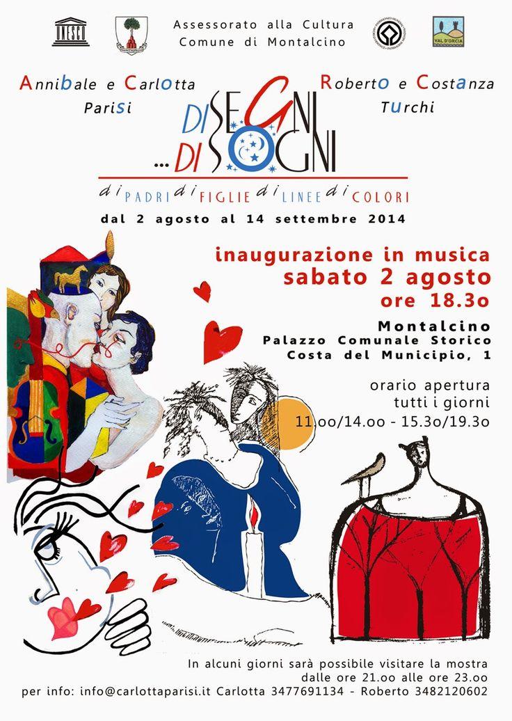 """Nuova mostra Carlotta Parisi #2agosto a #Montalcino  """"#Disegni e di...sogni"""" http://omaventiquaranta.blogspot.it/2014/07/disegni-e-disogni-carlotta-parisi-vi.html"""