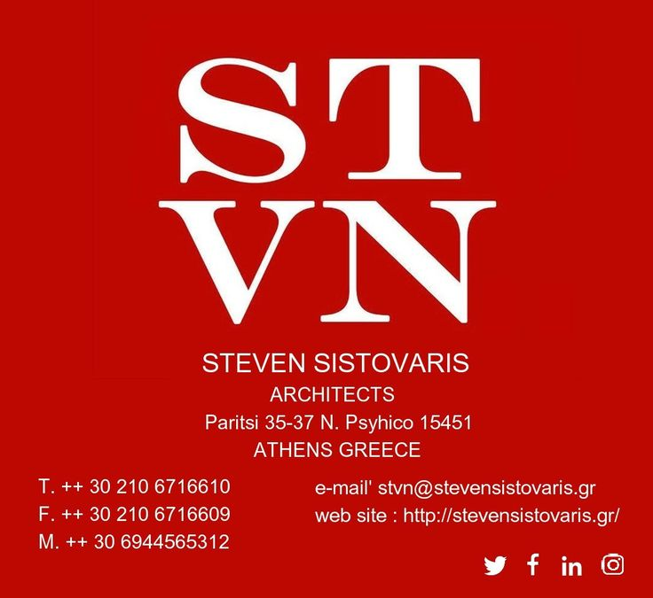 Architect & Interior_Designer Self-employed. Studied at the ESA University Paris France. Technical consultant to the Mayor of Athens www.stevensistovaris.gr