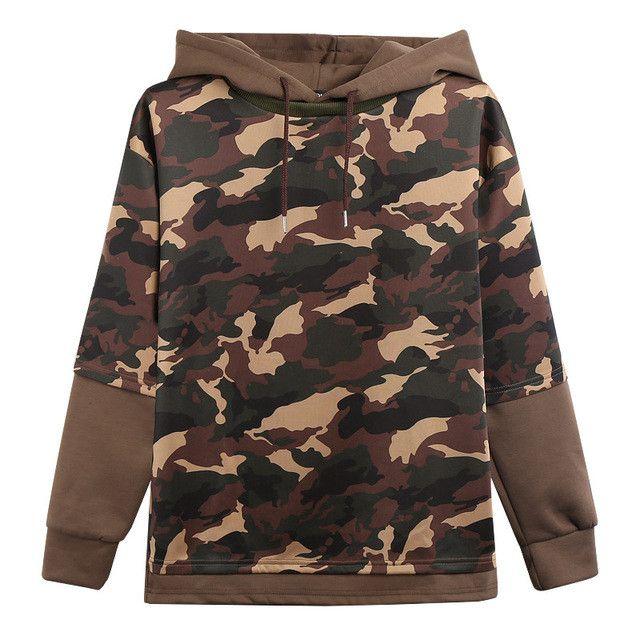 Mens Hoodie Camouflage Sweatshirt