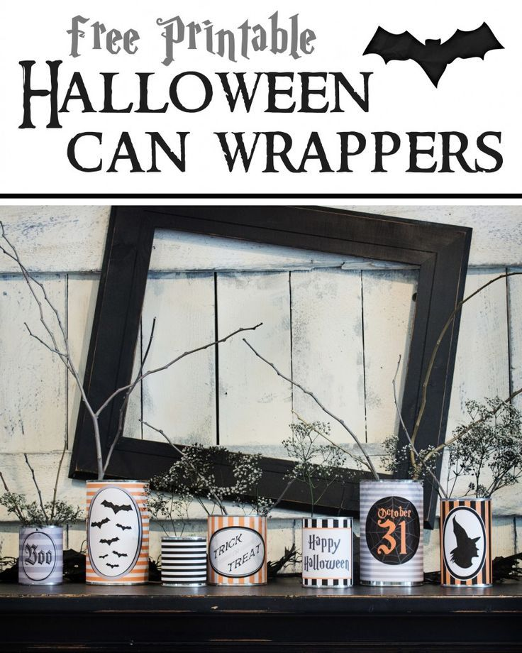Free Printable Halloween Can Wrappers