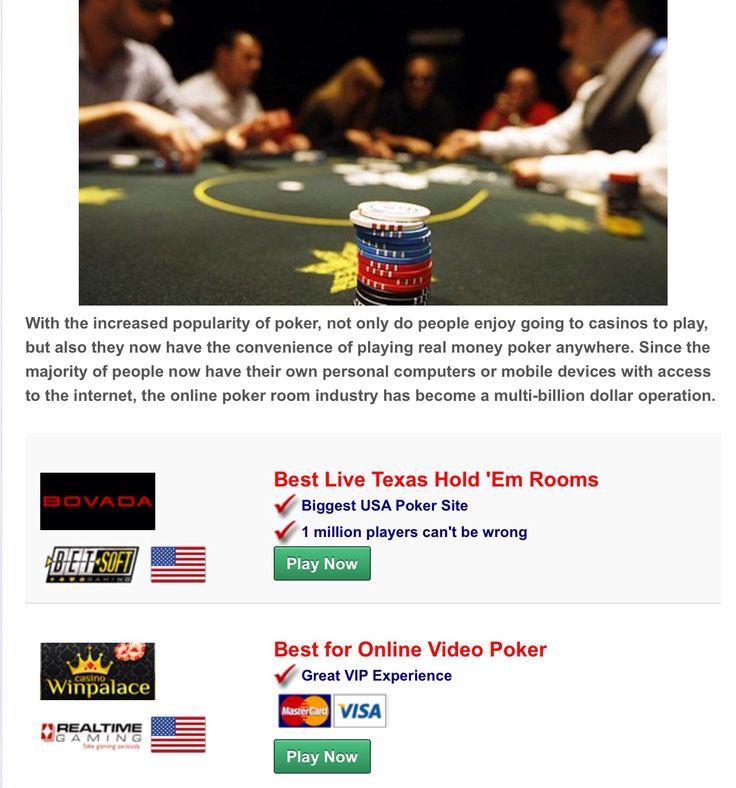online casino poker usa