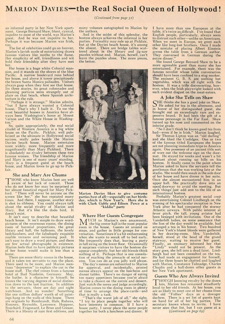 The Beach House Movie Part - 36: Marion Davies/ Beach House Article Page 2