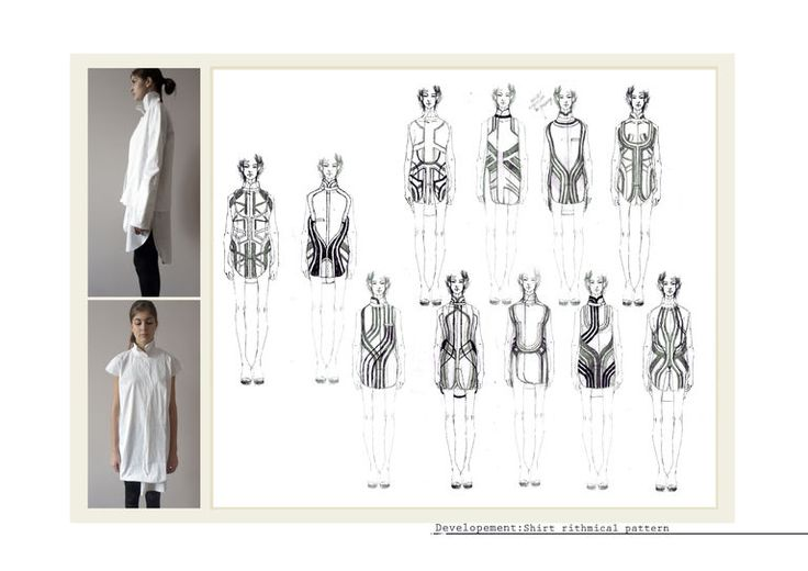 Fashion Portfolio - fashion design process exploring pattern & structure - fashion illustrations & design development; fashion sketchbook // Ekaterina Gerasimova