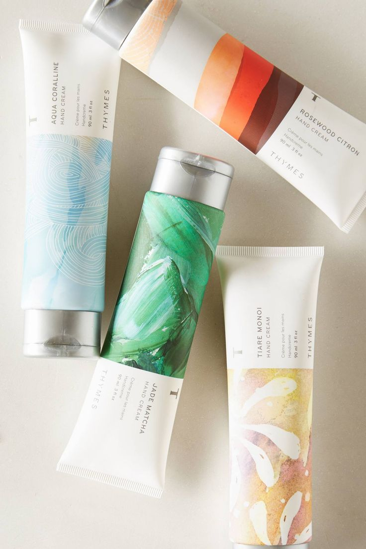 All about this gorgeous package design on this Anthropologie thymes hand cream.