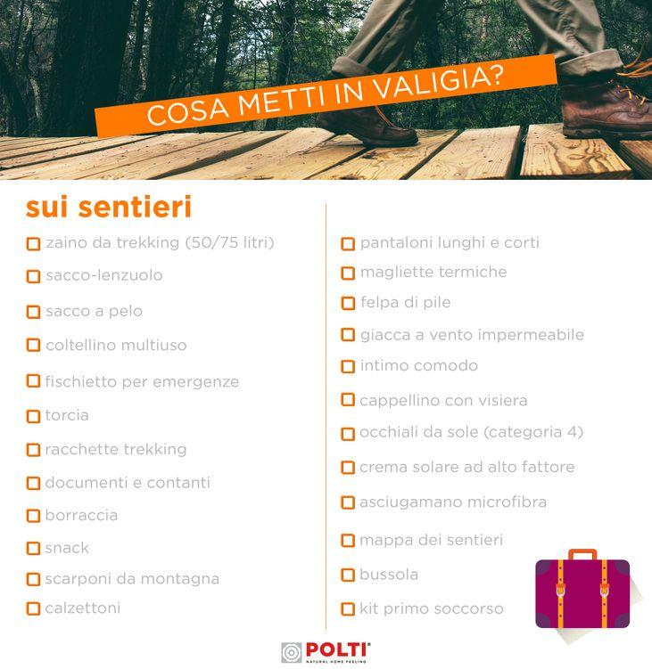 IN VACANZA SUI SENTIERI. Scarica gratis la nostra checklist per fare la valigia al volo.
