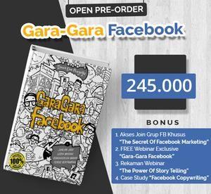 GARA-GARA FACEBOOK | Pre Order Diskon 30 % | Dewa Selling