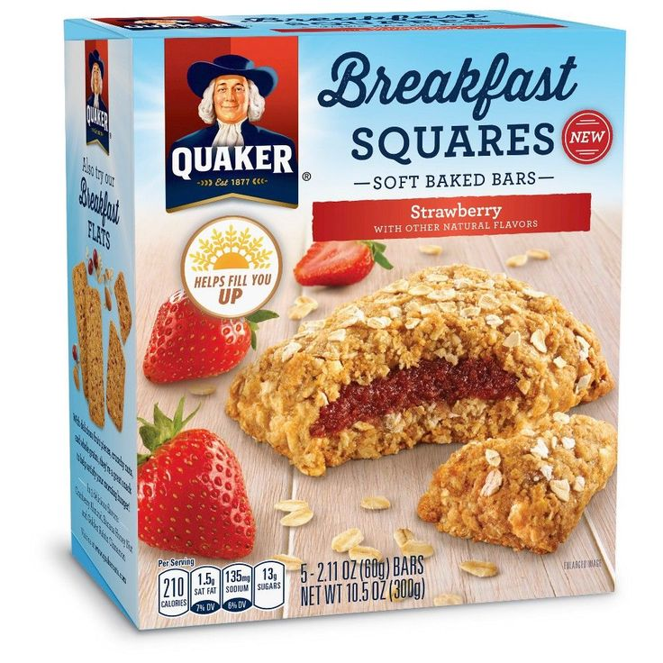 Quaker Breakfast Squares Strawberry 5 count 10.5oz