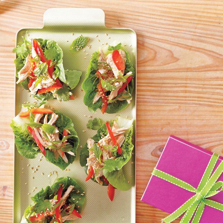 Asian Chicken Salad Lettuce Wraps | MyRecipes