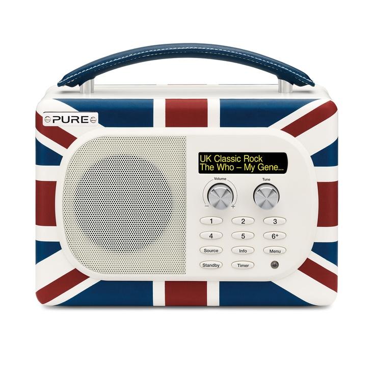 ACHICA | PURE EVOKE Union Jack Luxury Portable Digital FM Radio