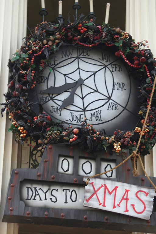 DIY Nightmare Before Christmas Halloween/Christmas Count Down Clock (Use Chalkboard Paint to make it functional vs. just a prop & you can use it for 2 holidays!)