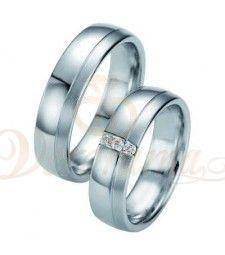 Βέρες γάμου από πλατίνα με διαμάντι Breuning 9062-9063