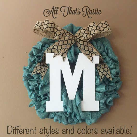 Hey, I found this really awesome Etsy listing at https://www.etsy.com/listing/236280834/front-door-initial-wreath-front-door