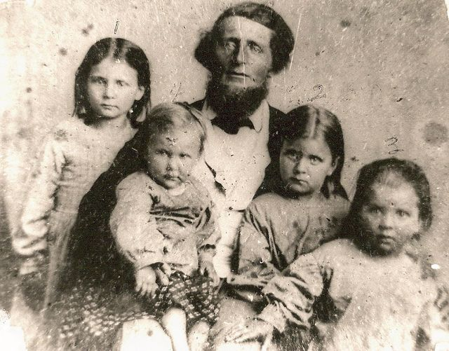 John Claybourne Coffee and his daughters - l:r fannie campbell, jenny grissom, gustavas campbell, rebecca goodlet mccain | Flickr - Photo Sharing!