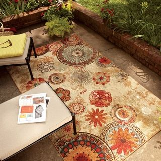 Mohawk Home Printed Indoor/ Outdoor Alexa Medallion Multi Rug (5' x 8') - Free Shipping Today - Overstock.com - 15275158 - Mobile