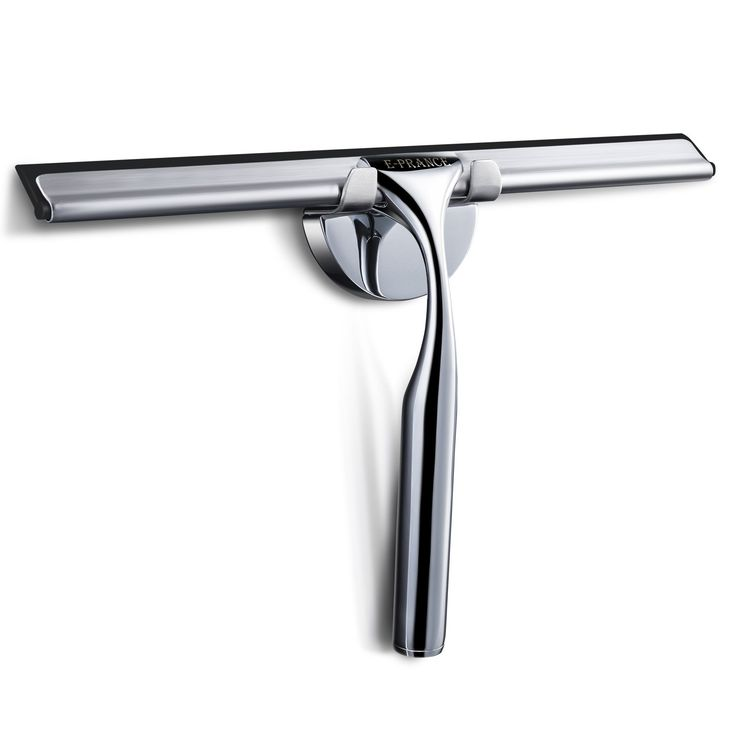 E-PRANCE Shower Window Squeegee, Deluxe Stainless Steel Squeegee for Bathroom Mirror Wiper,Window Glass Cleaning