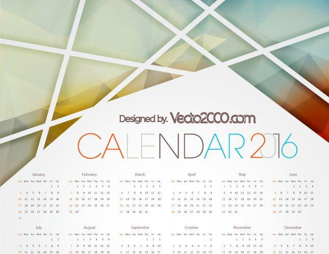 Descarga este calendario 2016 totalmente gratis con el - Como hacer tu propio calendario ...