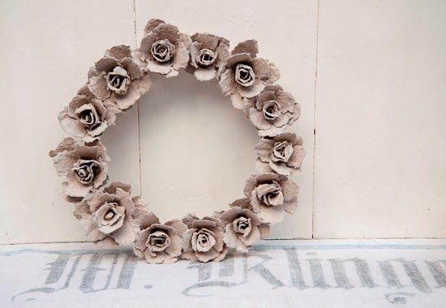 Eierkarton-Rosen, egg carton roses. Video Tutorial: https://www.youtube.com/watch?v=oVYh0o8N8B0