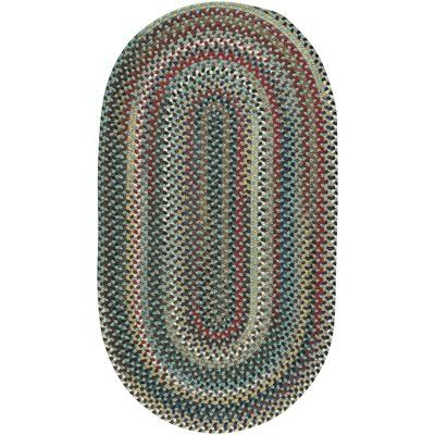 "August Grove Heidi Traditional Green/Red Area Rug Rug Size: Oval 11'4"" x 14'4"""