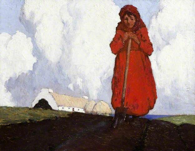 The Potato Digger - Paul Henry (Irish, 1876-1958)