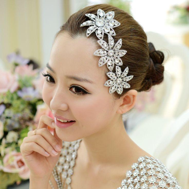 Элегантный красивые цветы гребень свадебные аксессуары для волос головные уборы