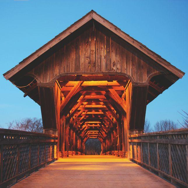 Pedestrian bridge over the Speed River in Guelph, Ontario