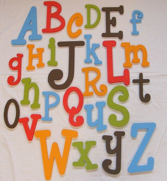 wooden alphabet letter set 10 to 6 letters abc wall child room nursery decor hanging wooden wall letters