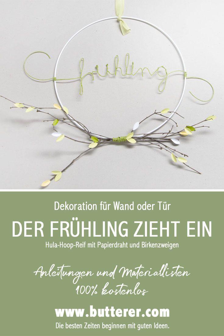 DIY Frühling | Hula Hoop Reif für die Deko zuhause | Diy