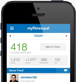 This is a great app that allows you to set goals and stay focused by logging and calculating calories consumed and burned.  You can also connect to a support pal if you wish.
