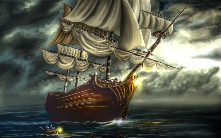 Ship at Sea: Pirate Ships, Pirate Draw, Lost Ship, Allwallpaper In, Ghost Ships, Wallpapers, Cartoons Unreal