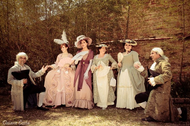 Vestimentas Rococó/Georgiana e Eduardiana.    Foto de Daiane Costa.