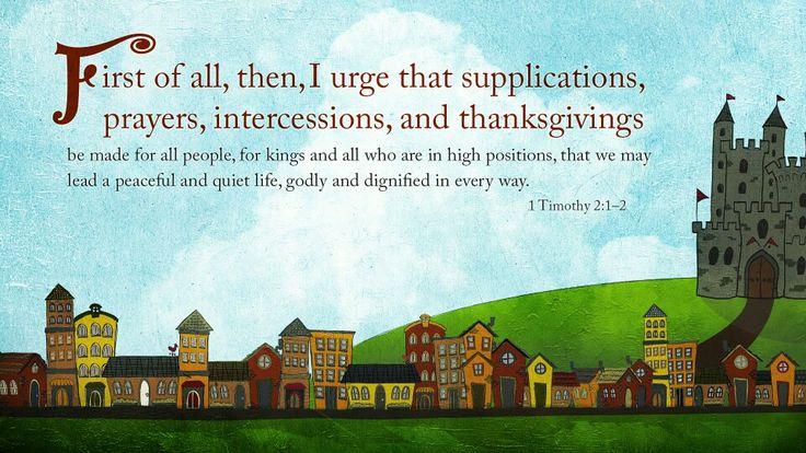1Timothy 2:1-2